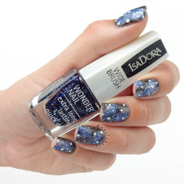 IsaDora holographic galaxy nails