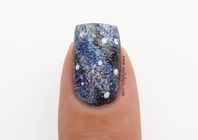 Galaxy nails close up