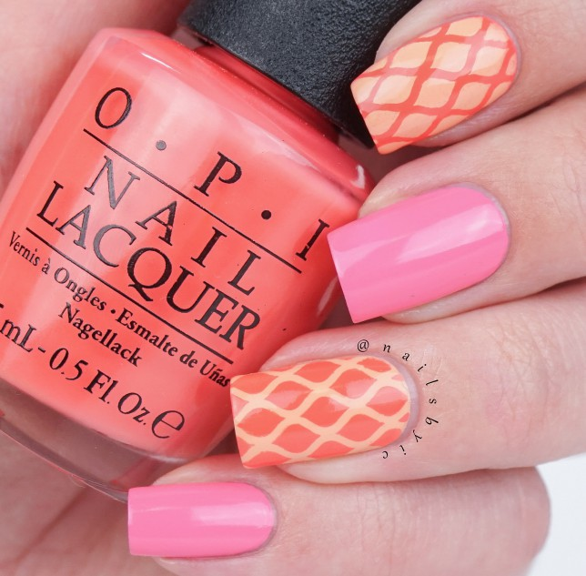 OPI Summer RETRO nail art
